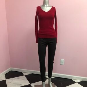 Red Knit Long Sleeve NWT